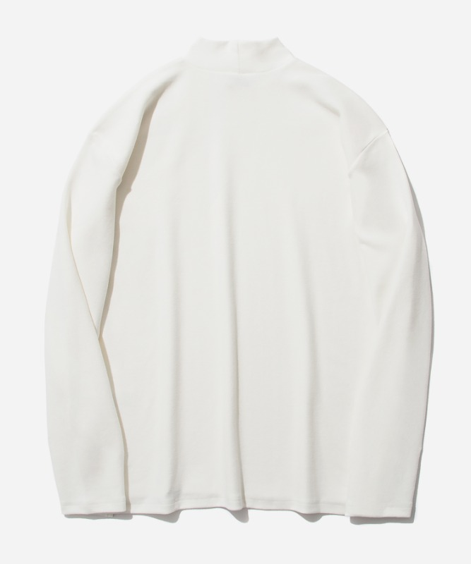 SP Over Fit MocNeck Sleeve-White