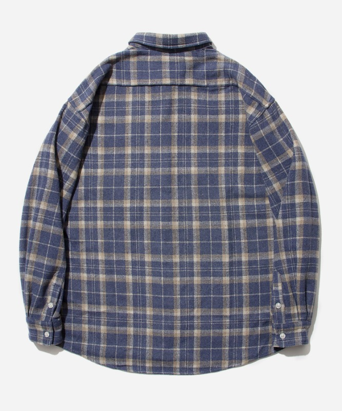 SP Loose Fit Muse Check Shirts-Blue