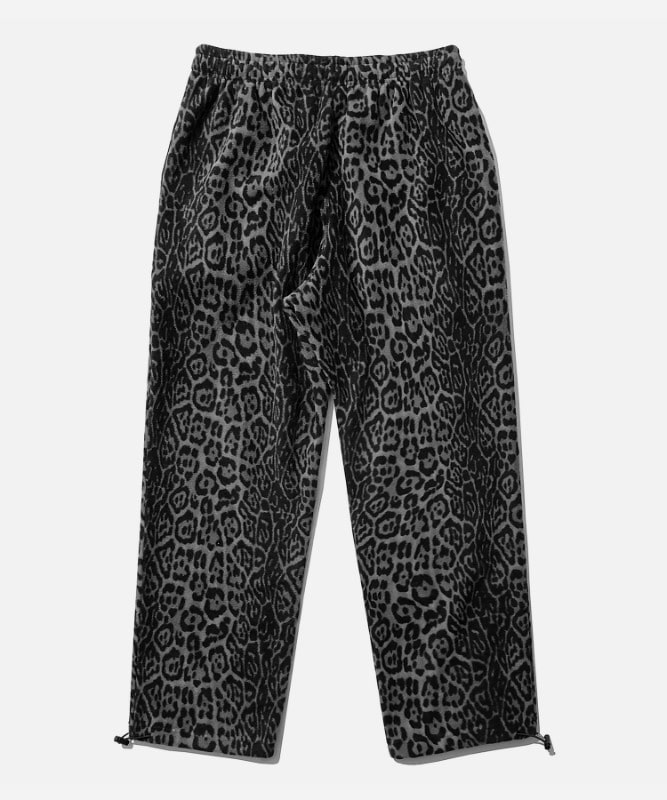 SP Leopard Fleece Pants-Gray