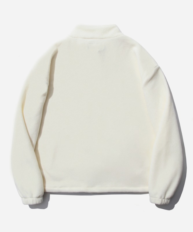 SP Fleece Zip Up Jacket-White