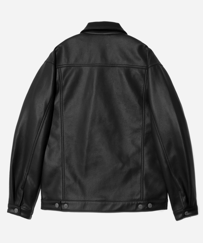 SP Fleather Trucker Jacket-Black