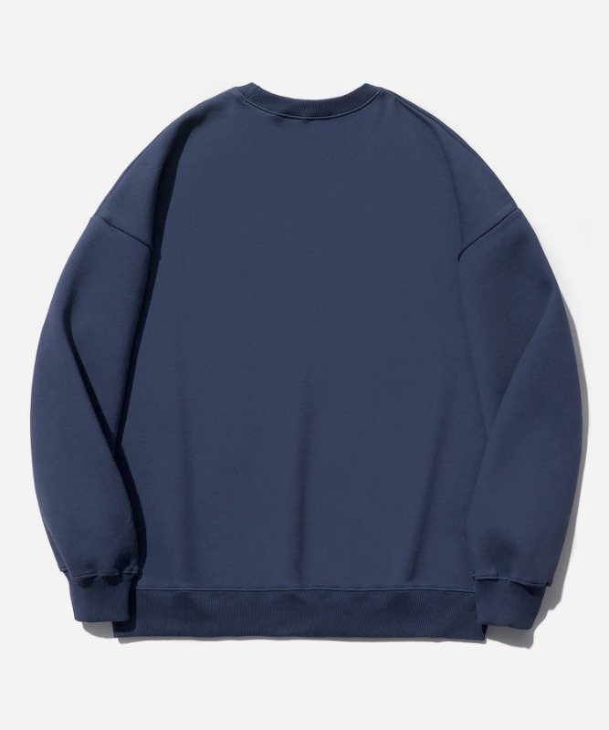 SP Arch Logo Crew Neck-Navy