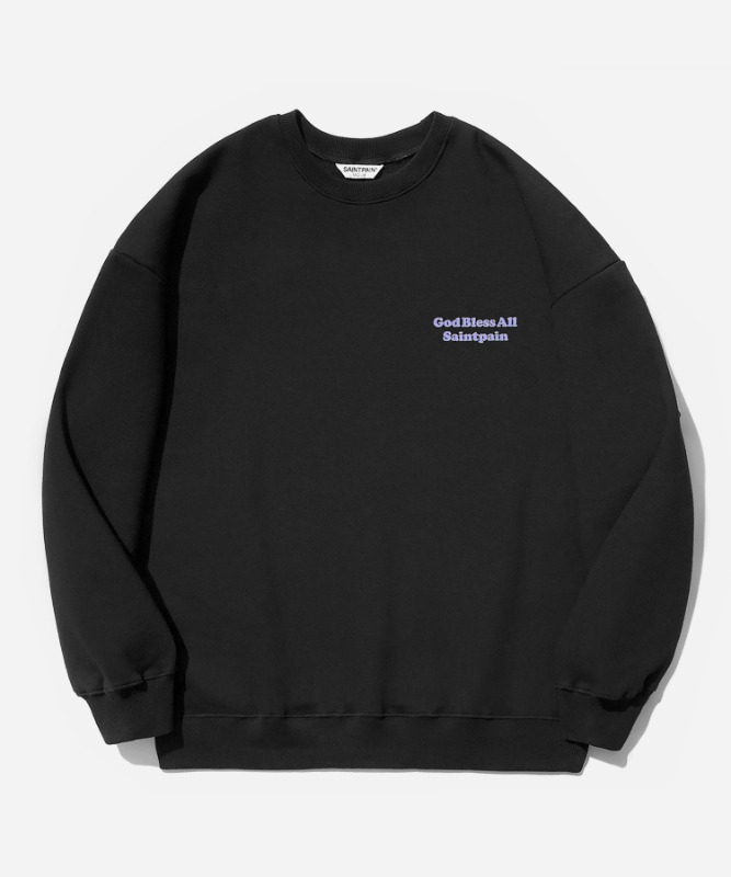 SP Our Lady Crew Neck-Black