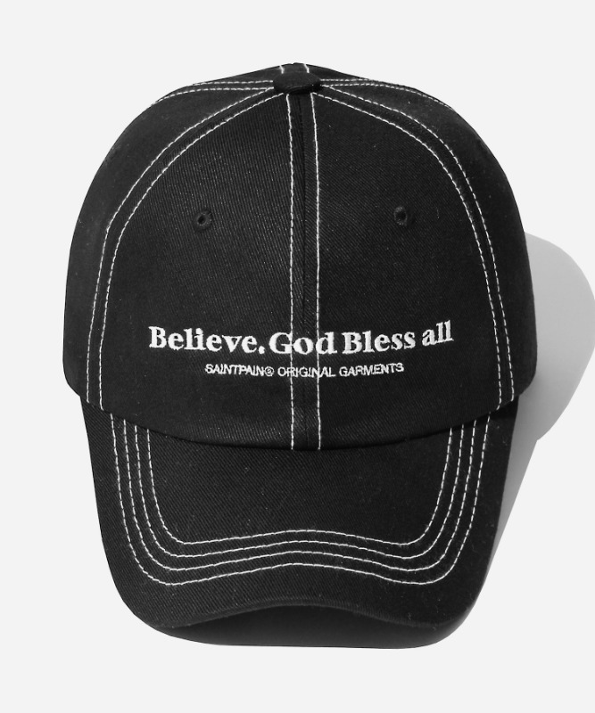 SP Believe Stitch Ball Cap-Black