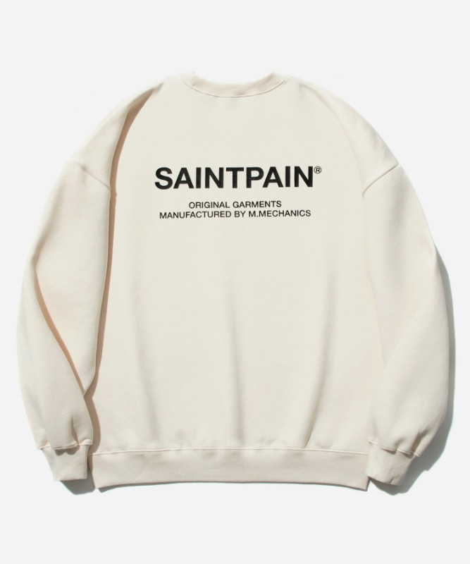 SP Variation Logo Crew Neck-Cream