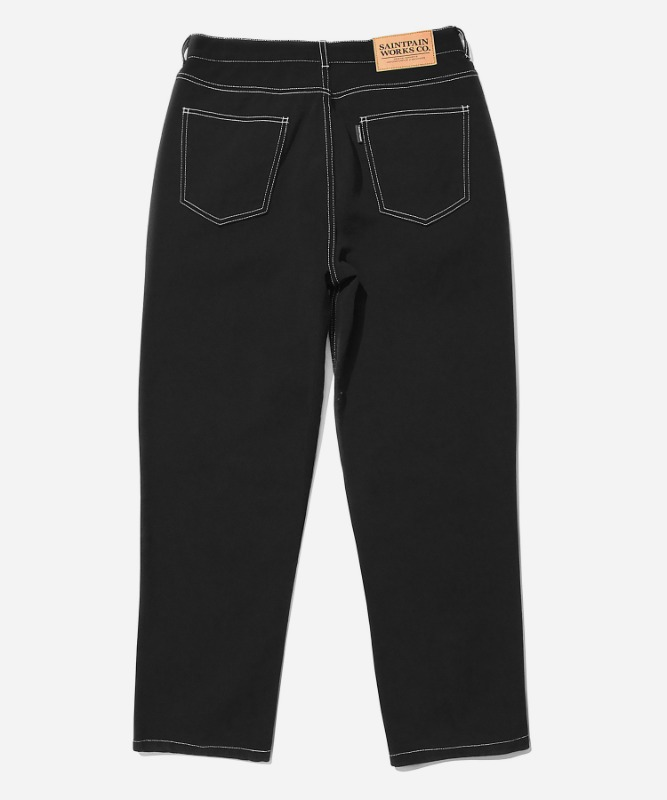 SP Wide Straight Jeans-Black