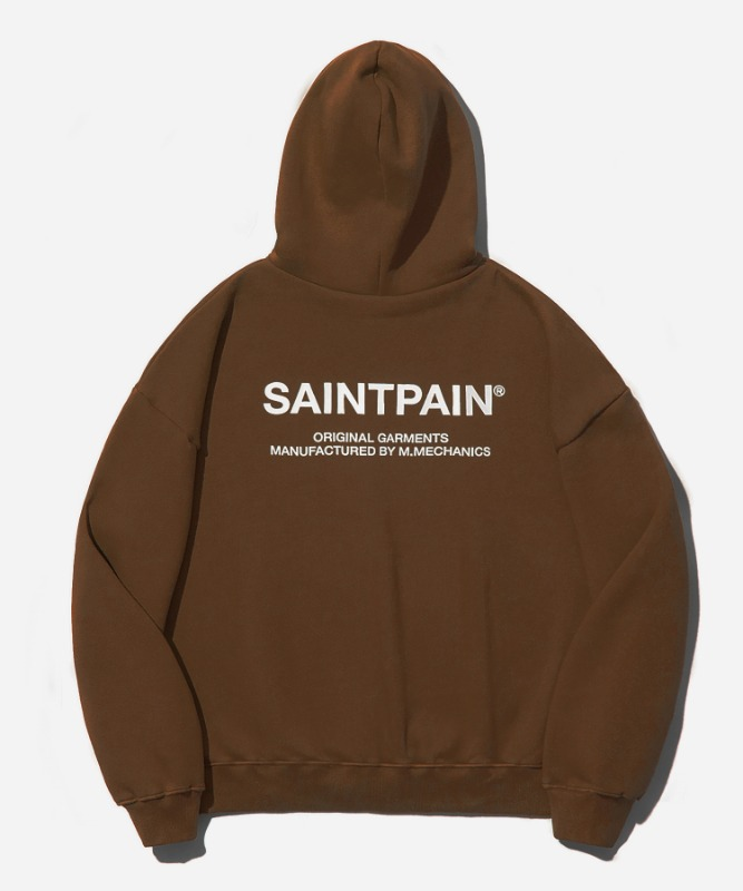 SP Variation Logo Hood-Brown