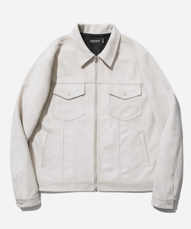 SP Suede Trucker Jacket-Ivory