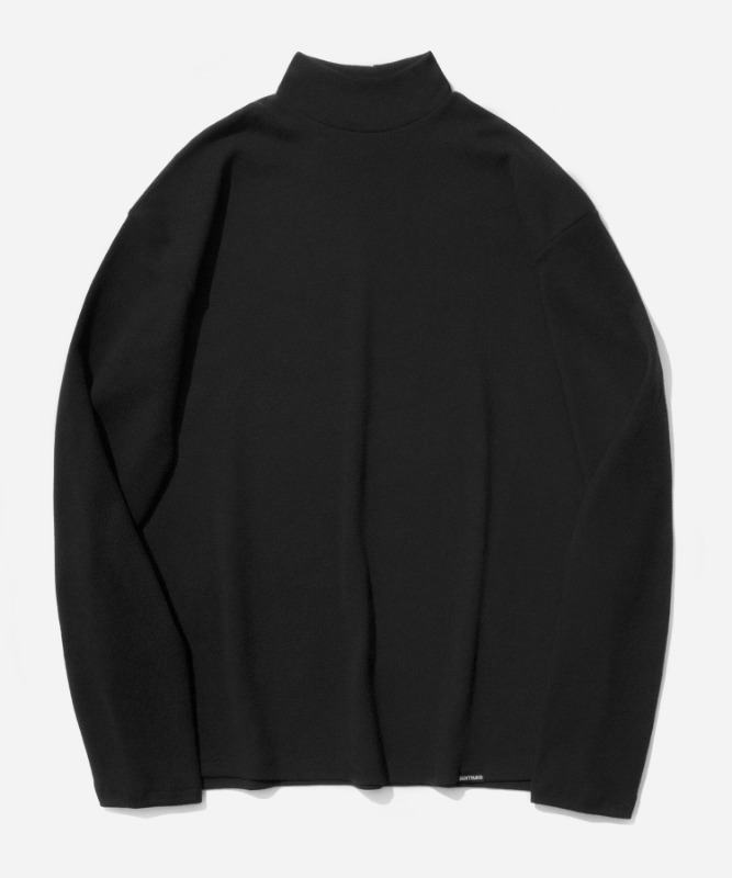 SP Over Fit MocNeck Sleeve-Black