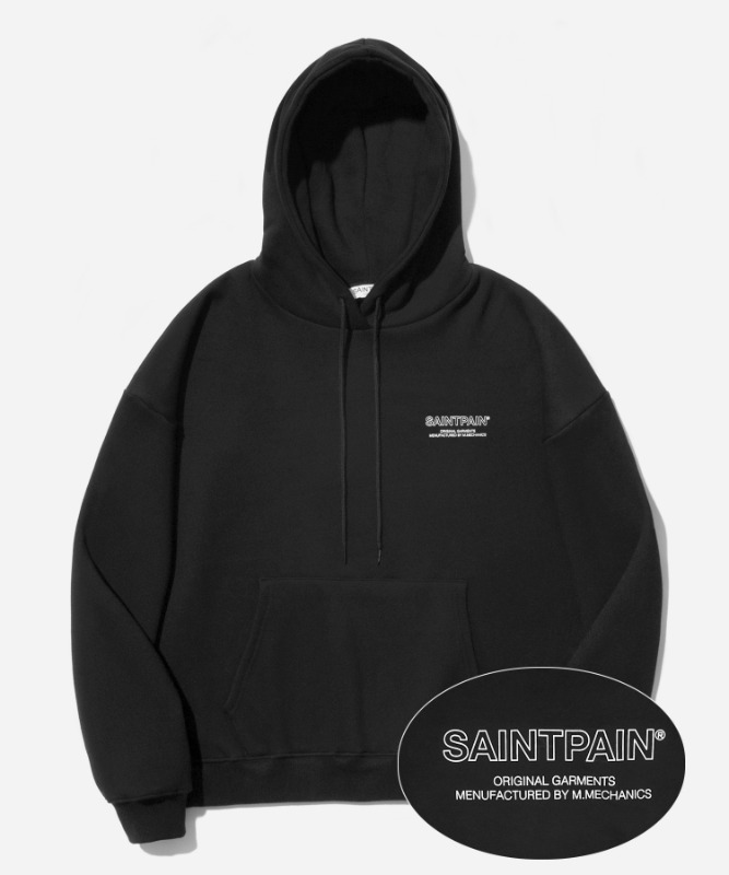 SP Out Line Logo Hood-Black