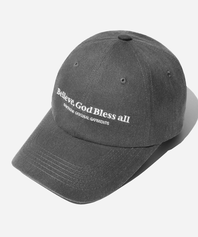 SP Believe Washing Ball Cap-Charcoal