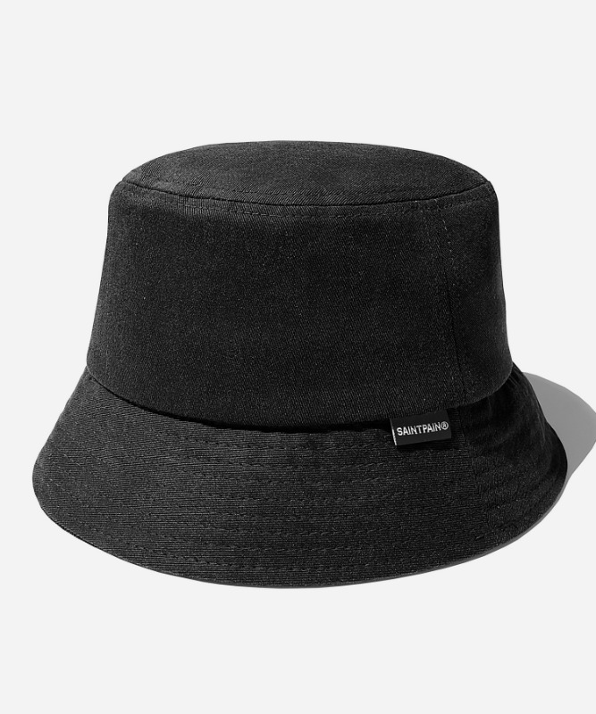 SP Pigment Washing Bucket Hat- Black