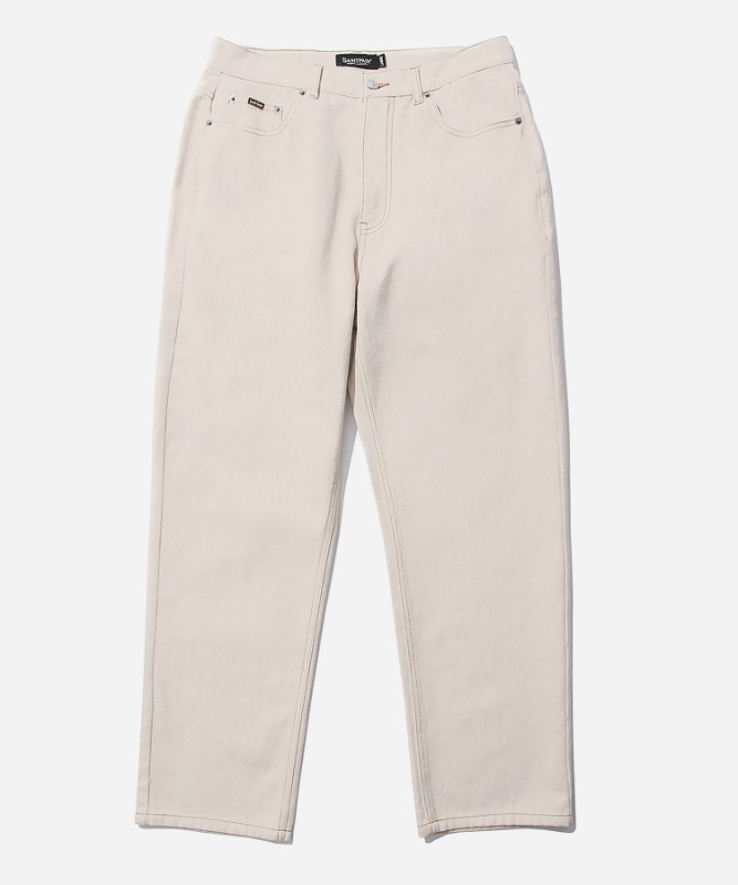 SP Wide Straight Jeans-Cream