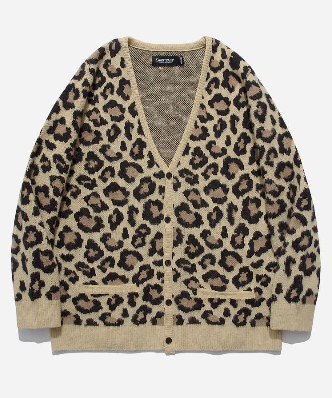 [11월 30일 예약발송]SP Semi Over Leopard Cardigan-Beige